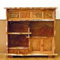 欅玉杢飾り棚4尺