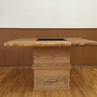 炉付きテーブル