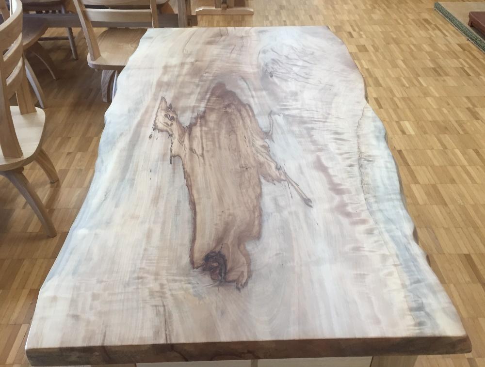 栃食卓テーブル