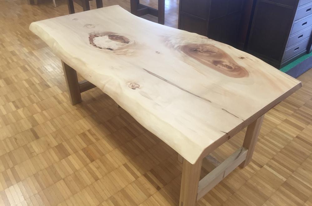 栃材食卓テーブル