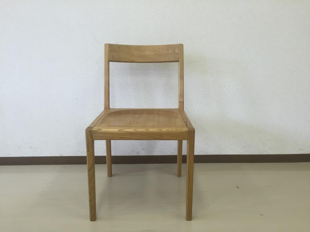 栗のシンプル椅子