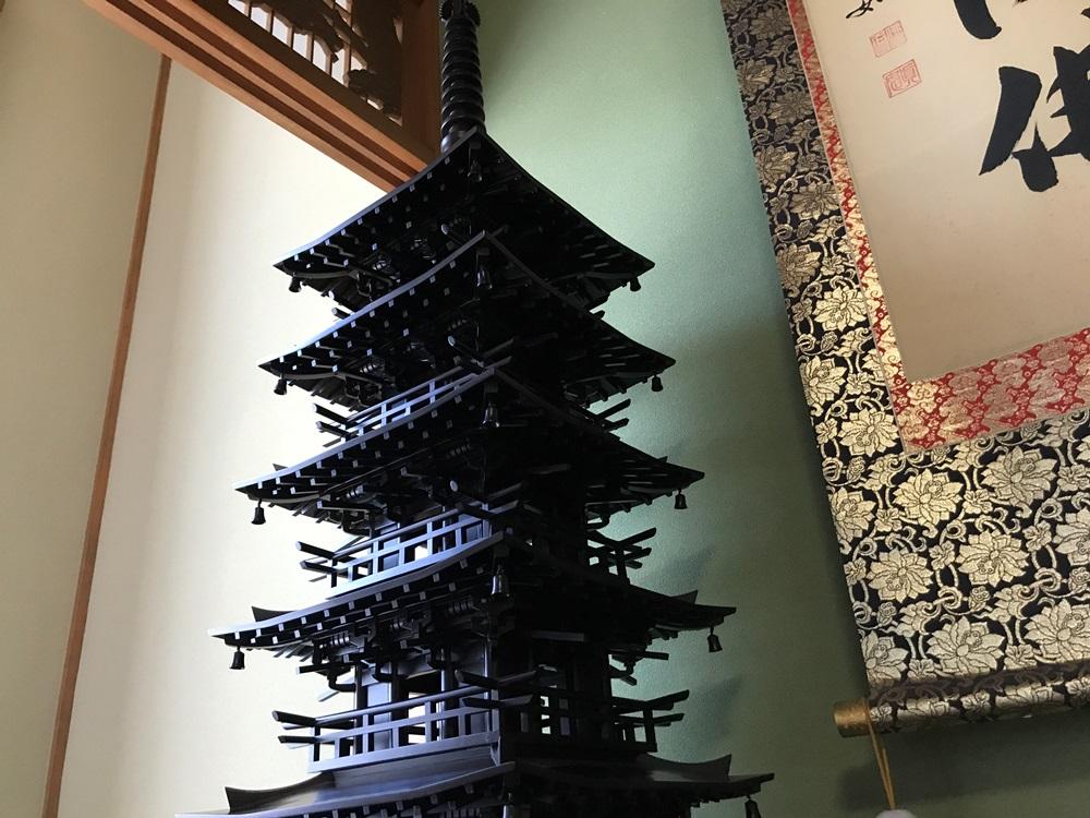 黒檀の五重塔
